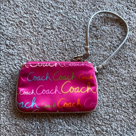 Coach Handbags - Pink Coach Wristlet